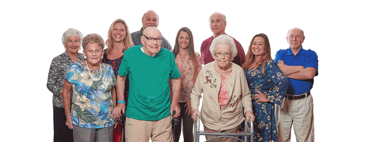 LaFayette Manor Staff and Residents in skilled nursing facility