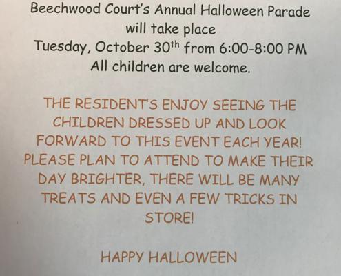 Halloween at Beechwood Court