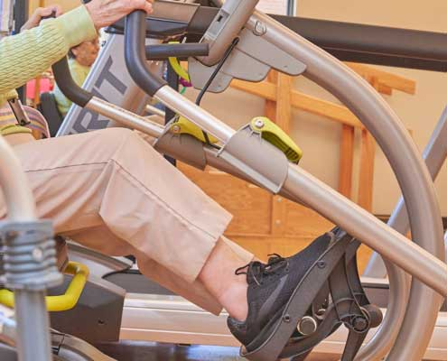 Resident Exercising in Functional Pathways Facility