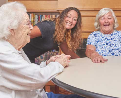 Friendly Residents and Staff at LaFayette Manor Inc.